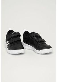 Czarne buty sportowe Adidas na rzepy, z cholewką