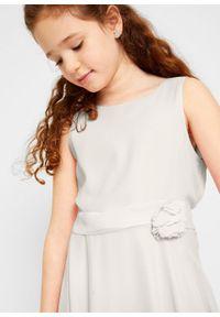 Sukienka na uroczyste okazje bonprix biel wełny. Kolor: biały. Materiał: wełna #5