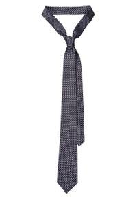 Niebieski krawat Lancerto elegancki, w geometryczne wzory