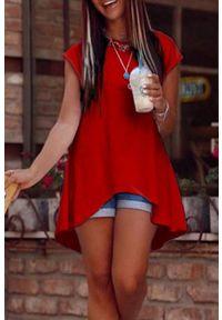 Czerwona tunika IVET elegancka, na co dzień