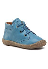 Froddo - Trzewiki FRODDO - G2130226-1 S Jeans. Kolor: niebieski. Materiał: skóra. Sezon: zima, jesień