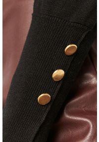 Czarny sweter Answear Lab z golfem, na co dzień, długi