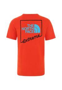 Pomarańczowa koszulka sportowa The North Face