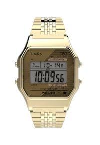 Złoty zegarek Timex cyfrowy