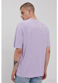 Jack & Jones - T-shirt/polo 12185628. Okazja: na co dzień. Typ kołnierza: polo. Kolor: fioletowy. Materiał: dzianina. Wzór: gładki. Styl: casual