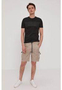 Calvin Klein Jeans - Szorty. Okazja: na co dzień. Kolor: szary. Materiał: tkanina. Styl: casual