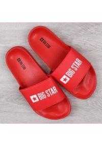 Big-Star - Klapki męskie plażowe czerwone Big Star GG174932. Okazja: na plażę. Kolor: czerwony. Materiał: guma, tworzywo sztuczne
