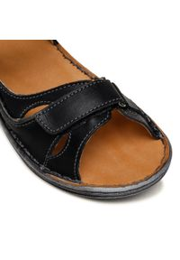 Łukbut - Sandały ŁUKBUT - 637-001 Czarny. Kolor: czarny. Materiał: skóra. Sezon: lato #6