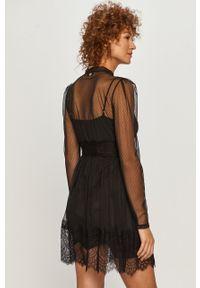 Czarna sukienka TwinSet z długim rękawem, mini, klasyczna, rozkloszowana