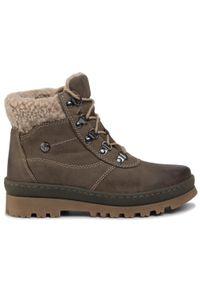 Zielone buty trekkingowe Go Soft z cholewką