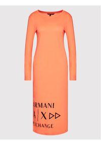 Armani Exchange Sukienka codzienna 6KYA70 YJ3RZ 1675 Pomarańczowy Regular Fit. Okazja: na co dzień. Kolor: pomarańczowy. Typ sukienki: proste. Styl: casual
