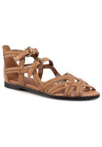Brązowe sandały See By Chloé na obcasie, na co dzień, na średnim obcasie
