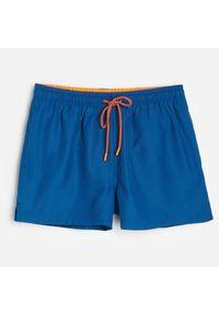 Reserved - Szorty kąpielowe z recyklingowanej tkaniny - Niebieski. Kolor: niebieski. Materiał: tkanina