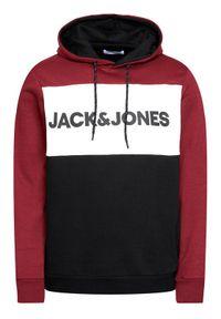 Jack & Jones - Jack&Jones Bluza Logo Blocking 12172344 Bordowy Regular Fit. Kolor: czerwony