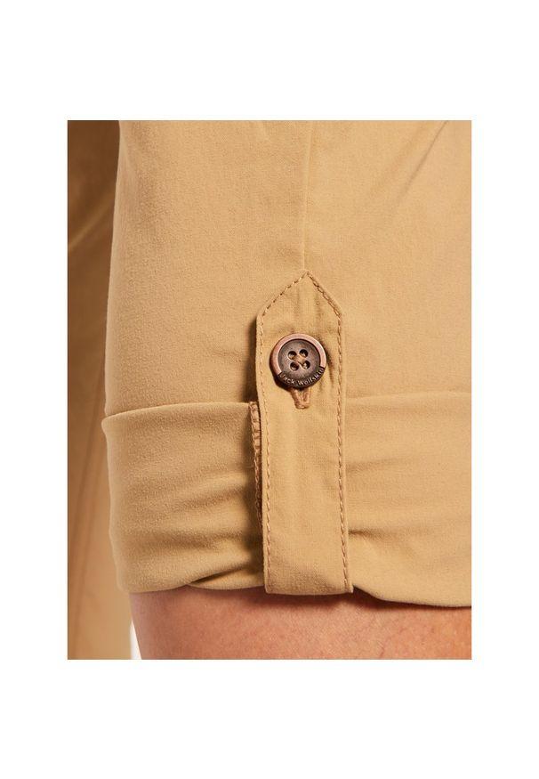 Beżowe spodnie trekkingowe Jack Wolfskin outdoorowe