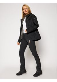 Czarna kurtka przeciwdeszczowa Salewa
