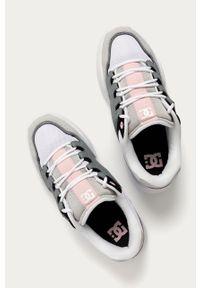 Szare sneakersy DC z cholewką, z okrągłym noskiem