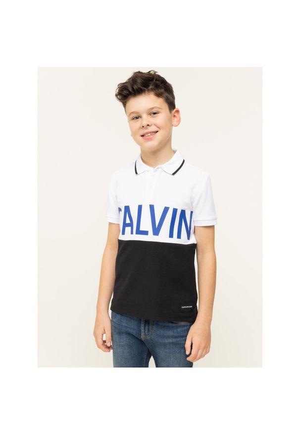 Biały t-shirt polo Calvin Klein Jeans polo