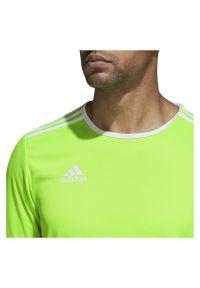 Adidas - Koszulka piłkarska męska adidas Entra CE9758. Materiał: materiał. Długość rękawa: krótki rękaw. Technologia: ClimaLite (Adidas). Długość: krótkie. Sport: piłka nożna