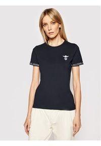 T-shirt z krótkim rękawem Aeronautica Militare. Kolor: niebieski. Materiał: bawełna. Długość rękawa: krótki rękaw. Długość: krótkie
