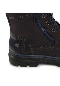 Niebieskie buty zimowe Lasocki Young z cholewką, z cholewką za kostkę
