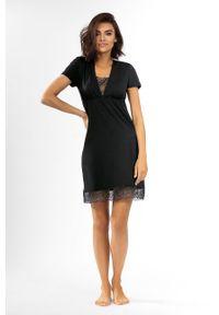 Czarna piżama Lorin krótka