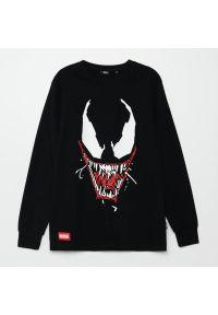 Cropp - Koszulka longsleeve Venom - Czarny. Kolor: czarny. Długość rękawa: długi rękaw