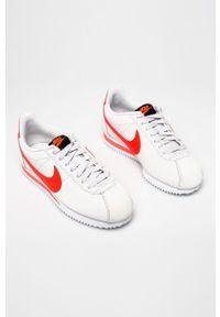 Czarne buty sportowe Nike z cholewką, z okrągłym noskiem, Nike Cortez