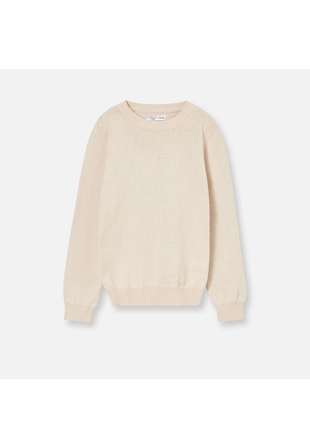 Różowy sweter Sinsay z długim rękawem, długi
