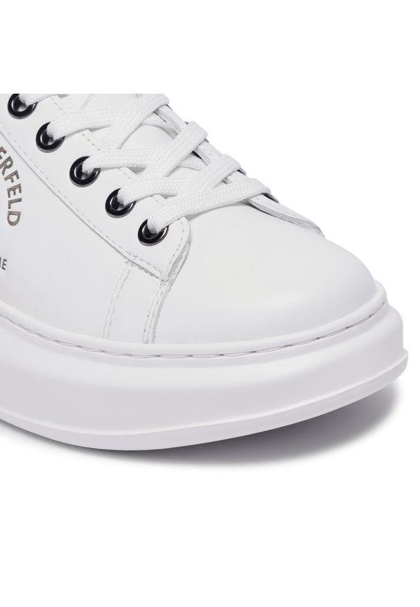 Białe półbuty Karl Lagerfeld z cholewką