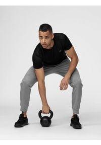 4f - Spodnie treningowe męskie. Kolor: szary. Materiał: włókno, dzianina