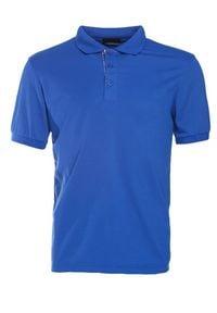 Born2be - Niebieska Koszulka Gladdening. Typ kołnierza: polo. Kolor: niebieski. Materiał: dzianina. Długość rękawa: krótki rękaw. Długość: krótkie. Wzór: gładki #6