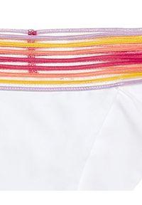 BEACH BUNNY - Dół od bikini Sheer Addiction. Kolor: biały. Wzór: kolorowy
