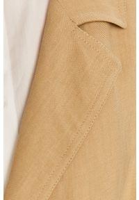TwinSet - Twinset - Trencz. Kolor: beżowy. Materiał: tkanina. Wzór: gładki. Styl: klasyczny #3