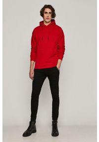 Czerwona bluza nierozpinana medicine gładkie, z kapturem