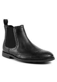 Czarne buty zimowe Clarks z cholewką, na co dzień