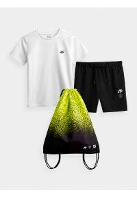 4f - Komplet sportowy szybkoschnący chłopięcy. Kolor: wielokolorowy. Materiał: bawełna, dzianina. Styl: sportowy
