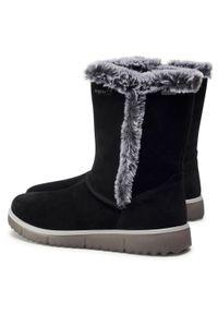 Czarne śniegowce Superfit z cholewką