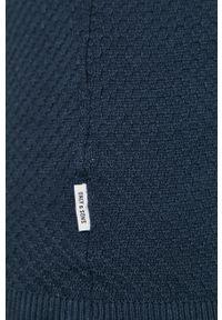 Only & Sons - Sweter. Okazja: na co dzień. Kolor: niebieski. Materiał: dzianina. Styl: casual #4