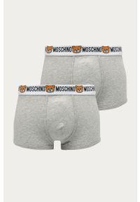 Szare majtki Moschino Underwear z nadrukiem