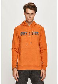 Only & Sons - Bluza. Okazja: na co dzień. Kolor: pomarańczowy. Wzór: nadruk. Styl: casual
