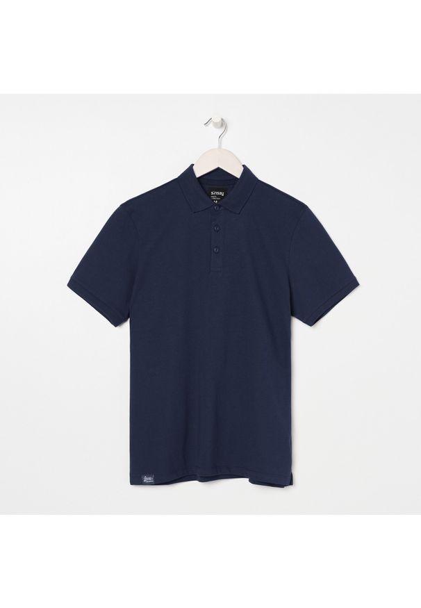 Niebieski t-shirt Sinsay polo