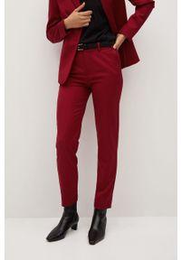Czerwone spodnie materiałowe mango na co dzień, casualowe