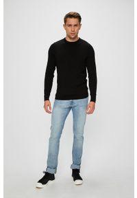 Jack & Jones - Sweter. Okazja: na co dzień. Kolor: czarny. Materiał: dzianina. Wzór: gładki. Styl: casual
