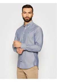 Tommy Hilfiger Tailored Koszula Oxford MW0MW16484 Szary Regular Fit. Kolor: szary