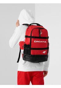 4f - Plecak uniseks Chorwacja - Tokio 2020. Kolor: czerwony. Materiał: materiał