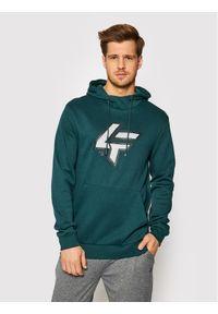 4f - 4F Bluza H4L21-BLM010 Zielony Regular Fit. Kolor: zielony
