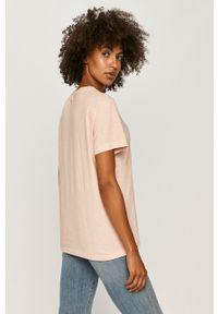 Różowa bluzka Miss Sixty casualowa, z nadrukiem