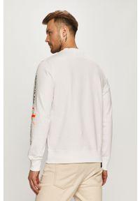 Biała bluza nierozpinana Calvin Klein Jeans casualowa, z nadrukiem, na co dzień