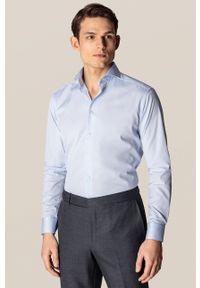 Eton - ETON - Koszula. Typ kołnierza: kołnierzyk włoski. Kolor: niebieski. Materiał: materiał. Długość rękawa: długi rękaw. Długość: długie. Wzór: gładki